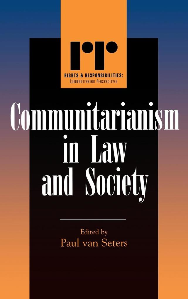 Communitarianism in Law and Society als Buch