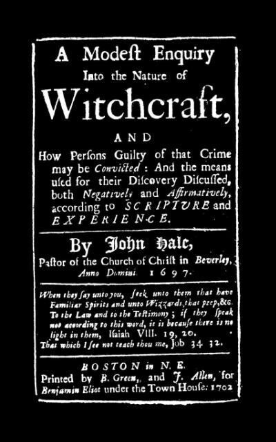 Modest Enquiry Into the Nature of Witchcraft als Taschenbuch