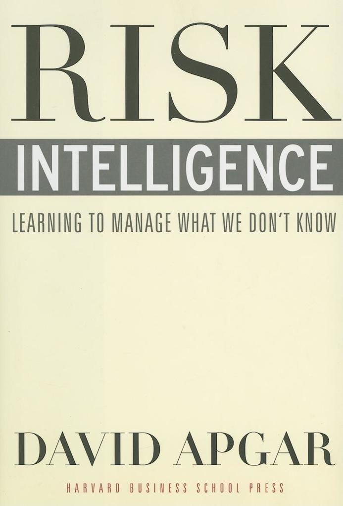 Risk Intelligence als Buch