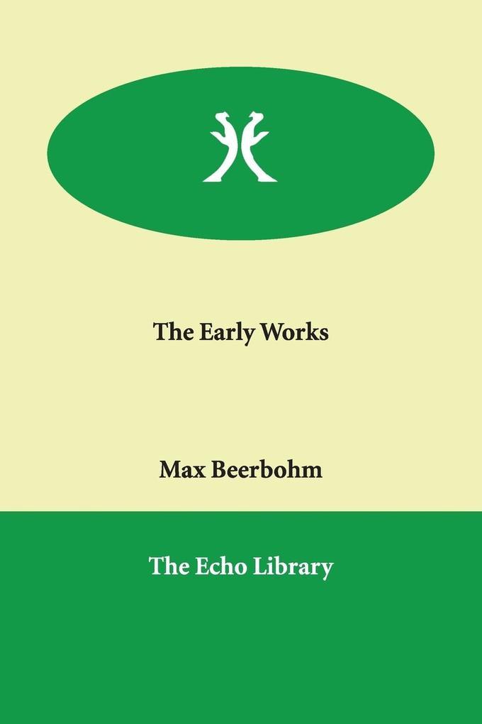 The Early Works als Taschenbuch