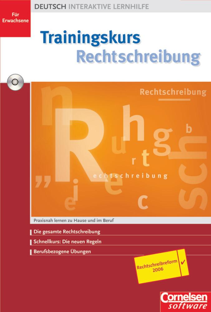 Trainingskurs Rechtschreibung. CD-ROM für Windows ab 98 als Software