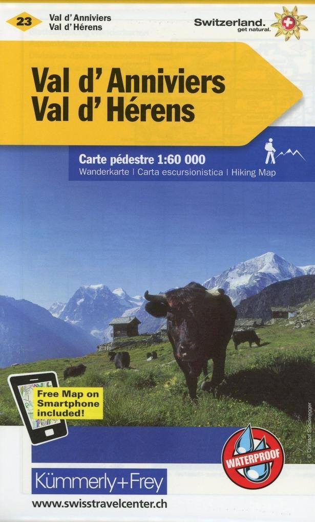 KuF Schweiz Wanderkarte 23 Val d' Anniviers, Val d' Hérens 1 : 60 000 als Buch