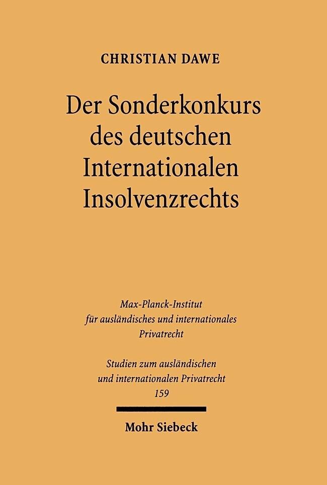 Der Sonderkonkurs des deutschen Internationalen Insolvenzrechts als Buch