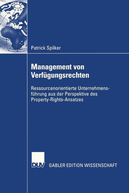 Management von Verfügungsrechten als Buch