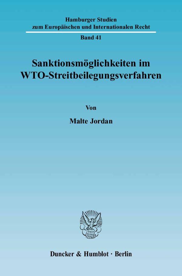 Sanktionsmöglichkeiten im WTO-Streitbeilegungsverfahren als Buch