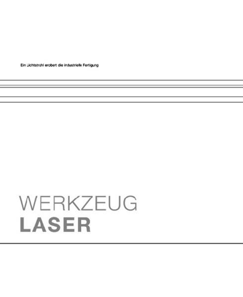 Werkzeug Laser als Buch