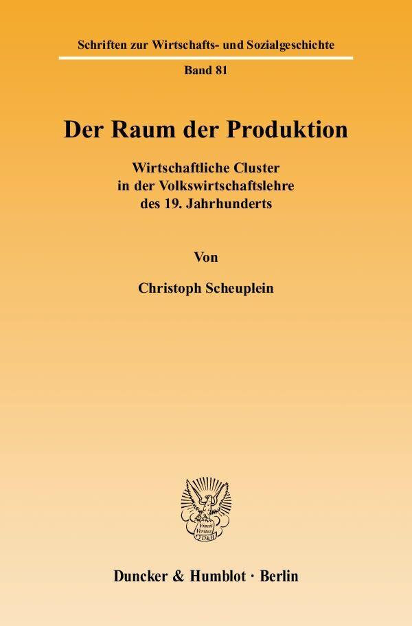 Der Raum der Produktion als Buch