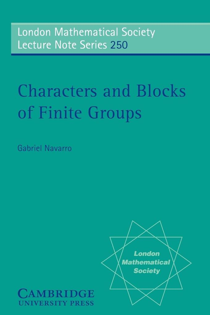 Characters and Blocks of Finite Groups als Buch
