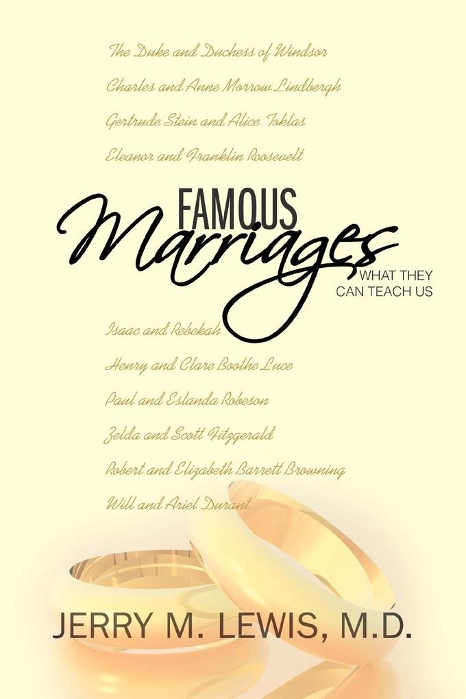 Famous Marriages: What They Can Teach Us als Taschenbuch