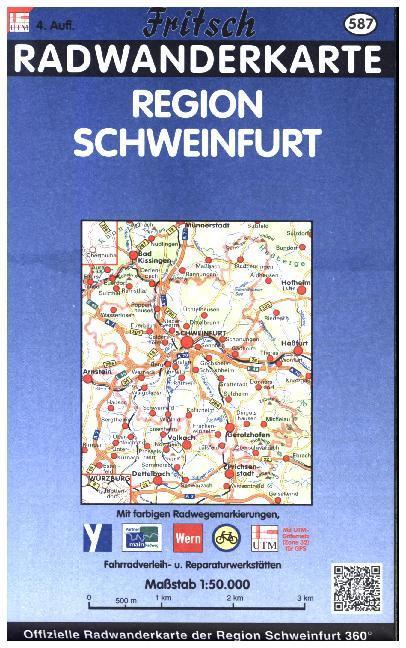 Radkarte Schweinfurter Land 1 : 50 000 als Buch