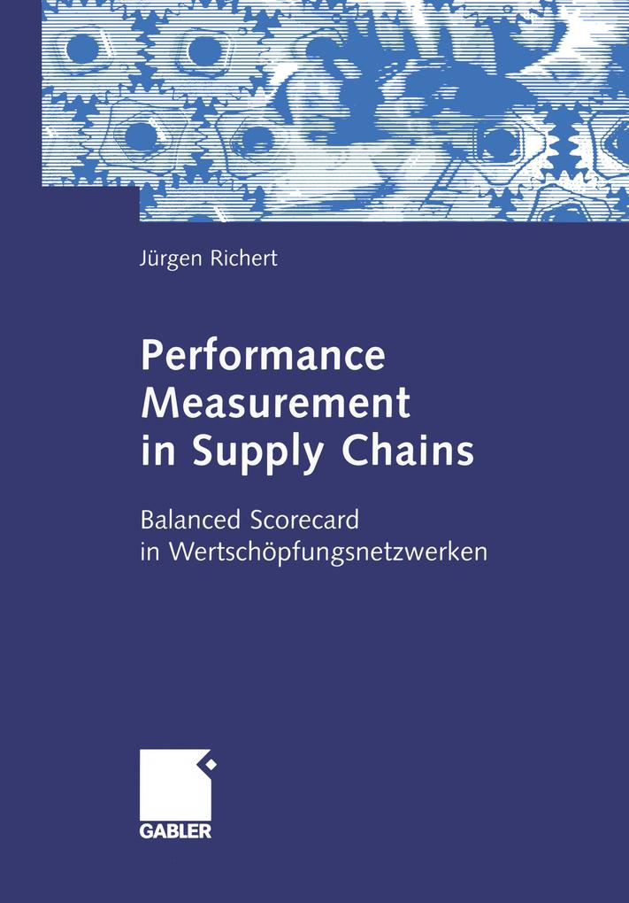 Performance Measurement in Supply Chains als Buch