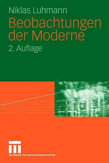 Beobachtungen der Moderne als Buch