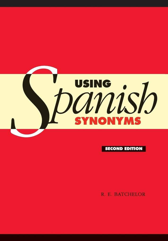 Using Spanish Synonyms als Buch