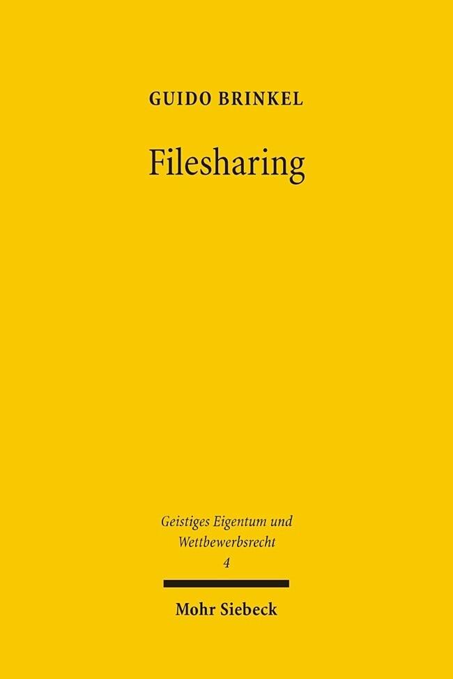 Filesharing als Buch