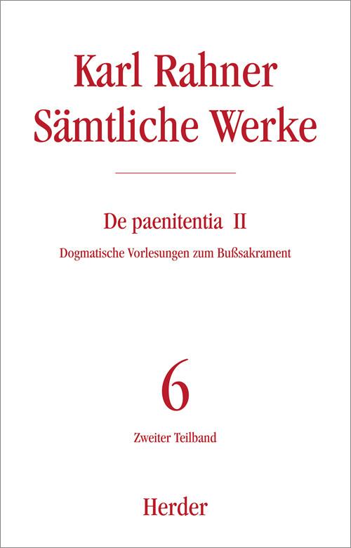 Sämtliche Werke 6/2. De paenitentia II als Buch