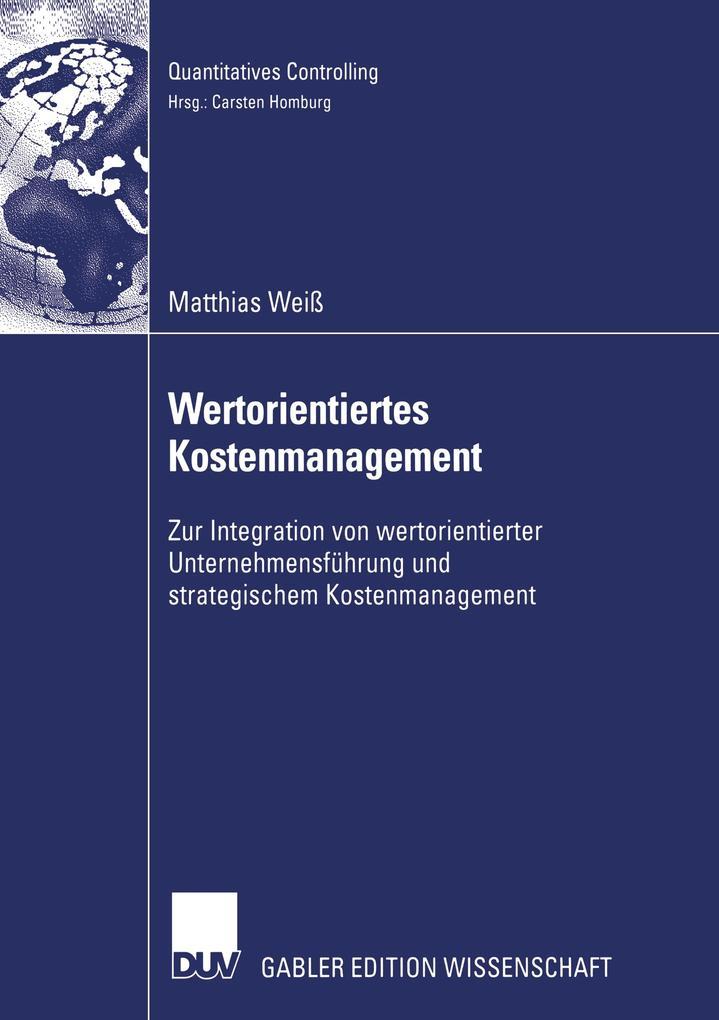 Wertorientiertes Kostenmanagement als Buch