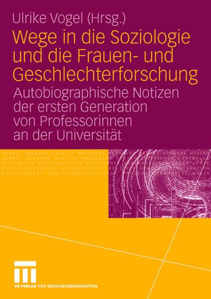 Wege in die Soziologie und die Frauen- und Geschlechterforschung als Buch