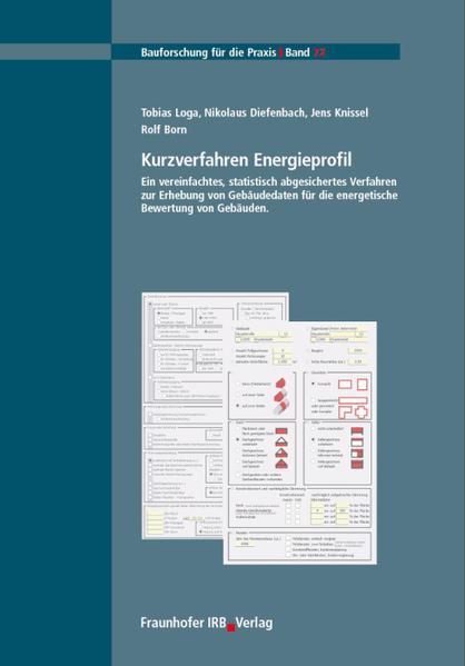 Kurzverfahren Energieprofil als Buch