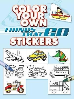 Color Your Own Things That Go Stickers als Taschenbuch