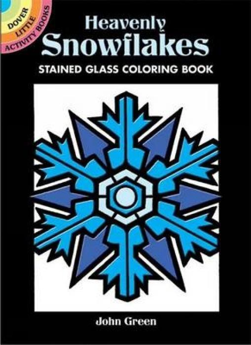 Heavenly Snowflakes Stained Glass Coloring Book als Taschenbuch