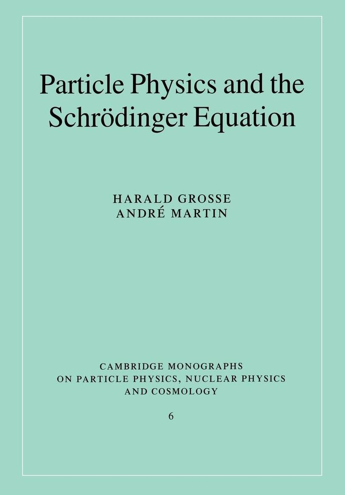 Particle Physics and the Schr Dinger Equation als Buch