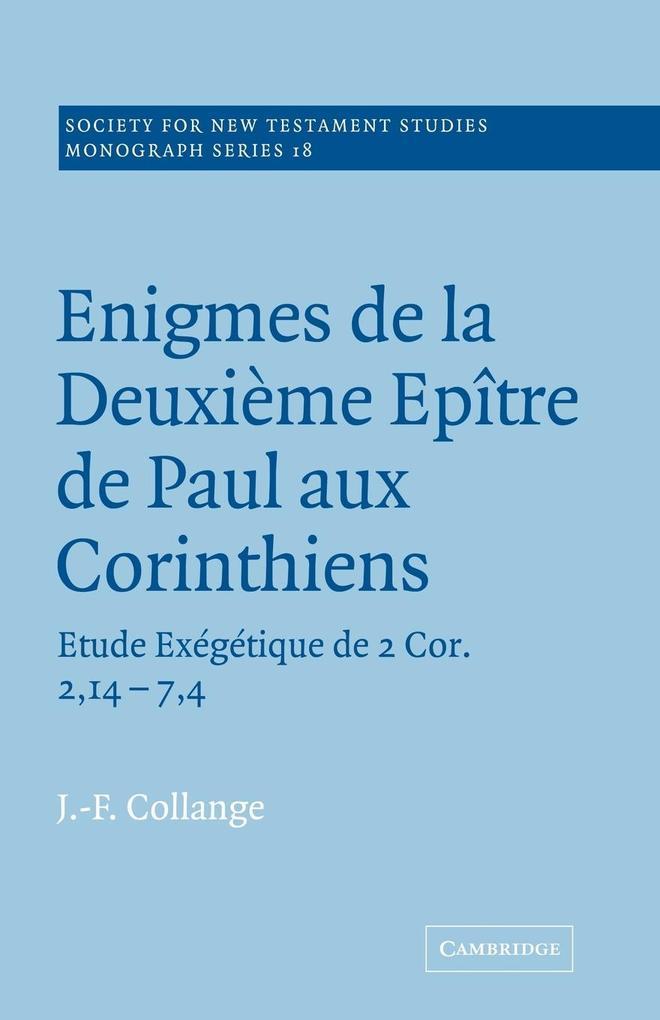 Enigmes de La Deuxieme Epitre de Paul Aux Corinthiens als Buch
