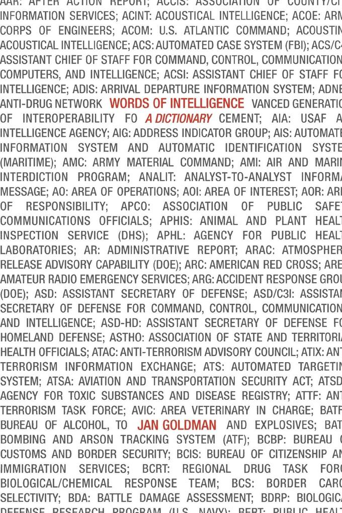 Words of Intelligence: A Dictionary als Taschenbuch