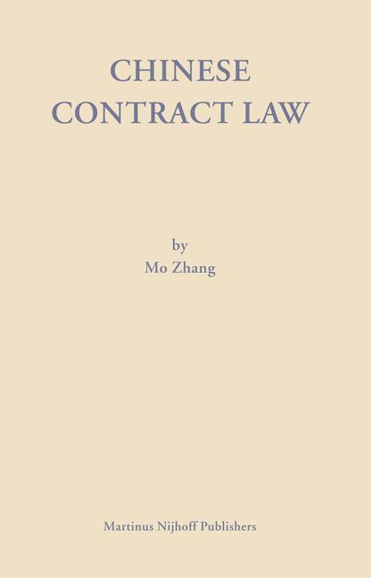 Chinese Contract Law: Theory and Practice als Buch