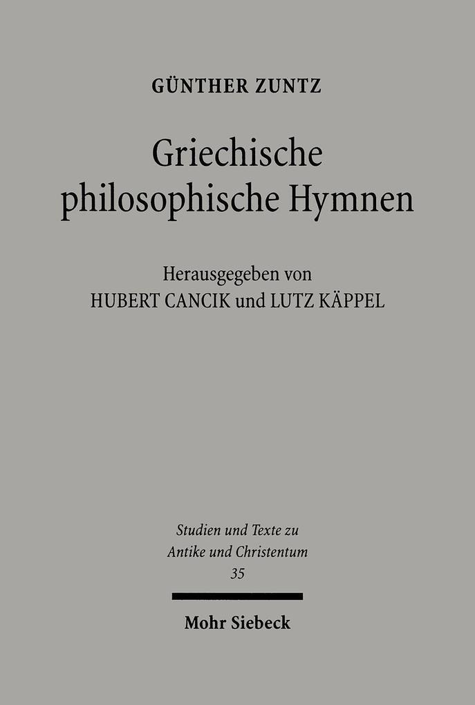 Griechische philosophische Hymnen als Buch