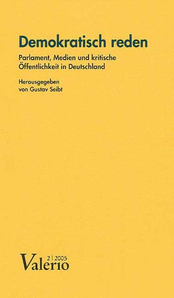 Valerio 2005/2. Demokratisch reden als Buch