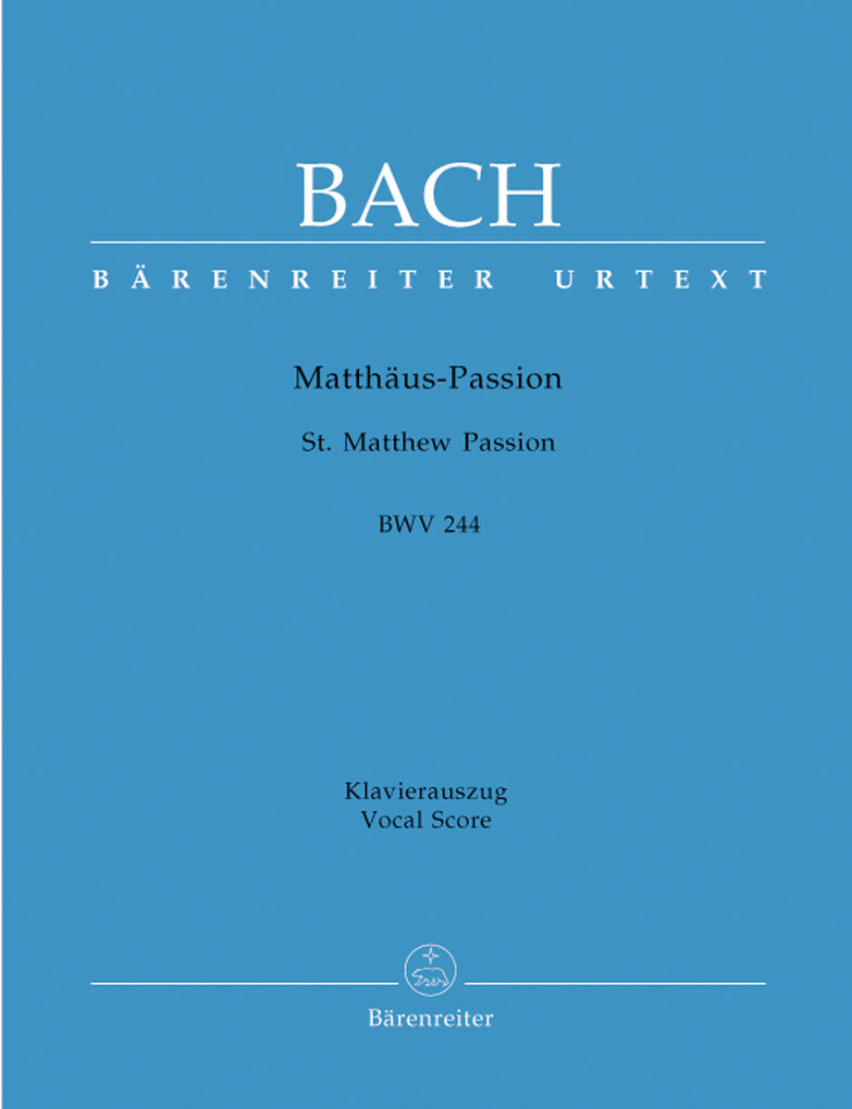 Matthäus-Passion BWV 244 als Buch