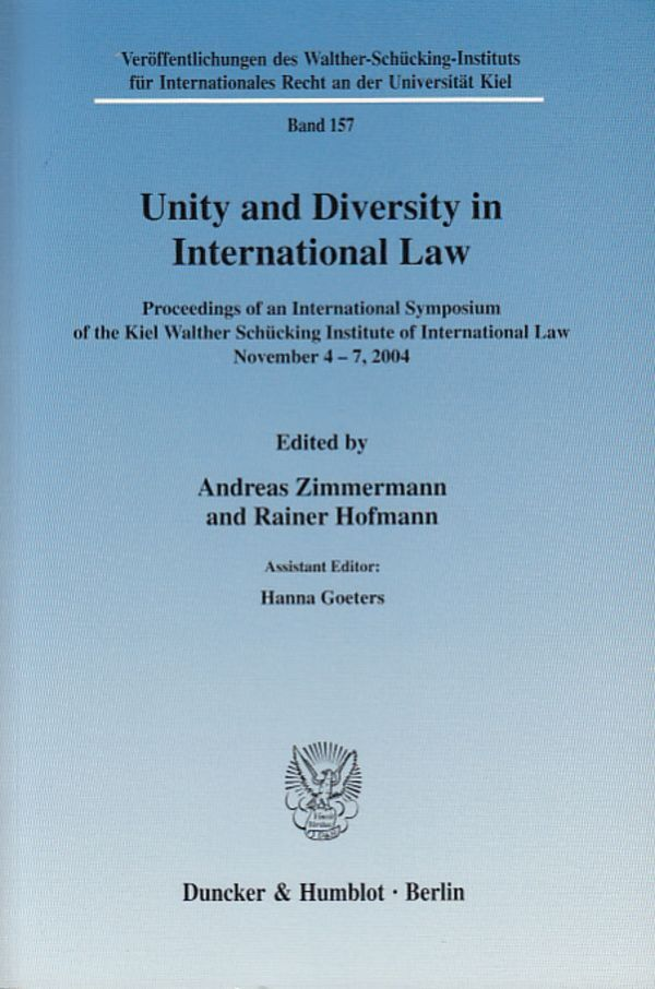 Unity and Diversity in International Law als Buch