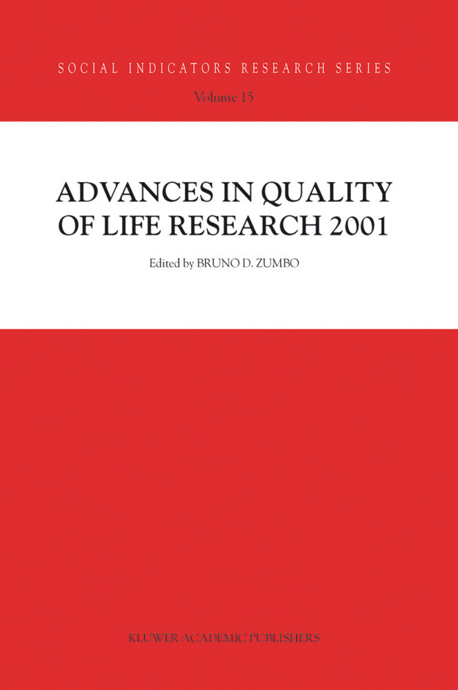 Advances in Quality of Life Research 2001 als Buch