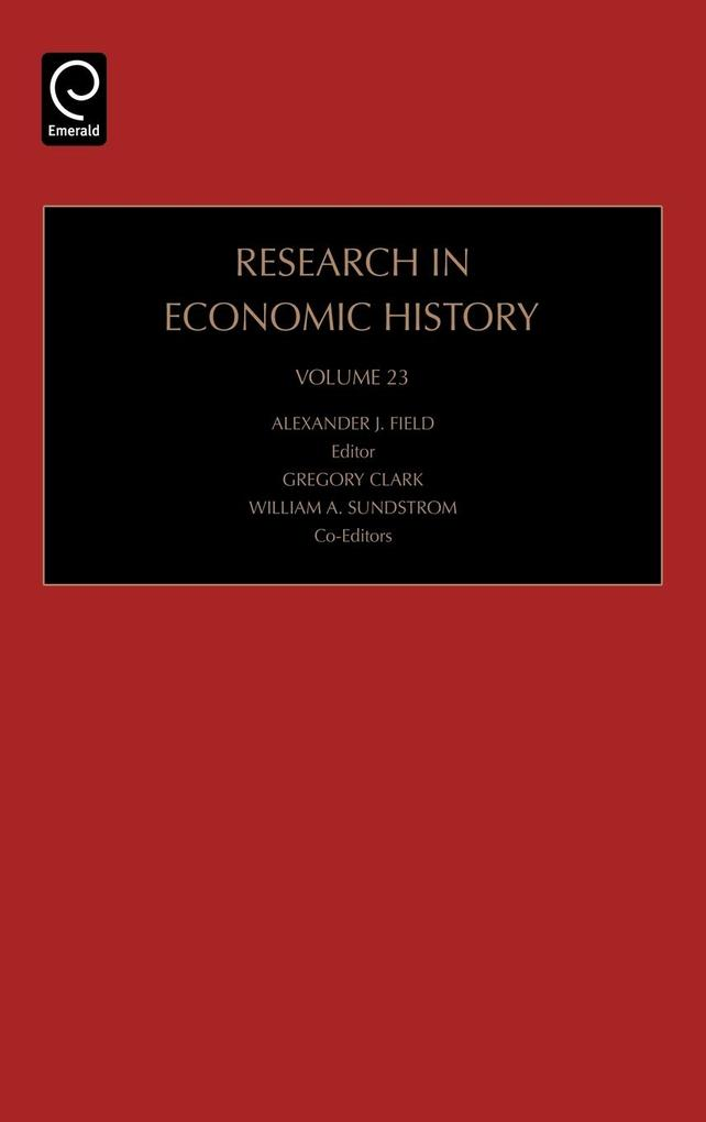 Research in Economic History als Buch