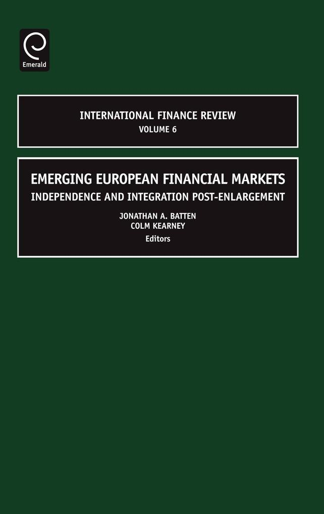 Emerging European Financial Markets als Buch