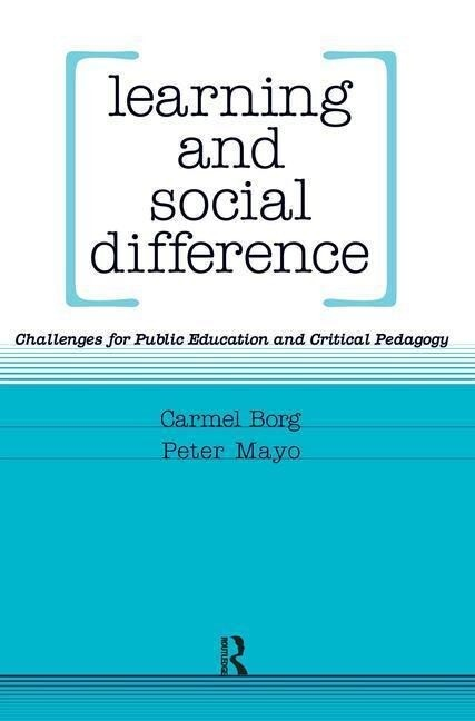 Learning and Social Difference als Buch