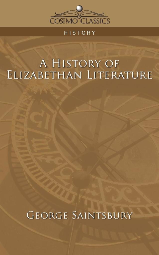 A History of Elizabethan Literature als Taschenbuch