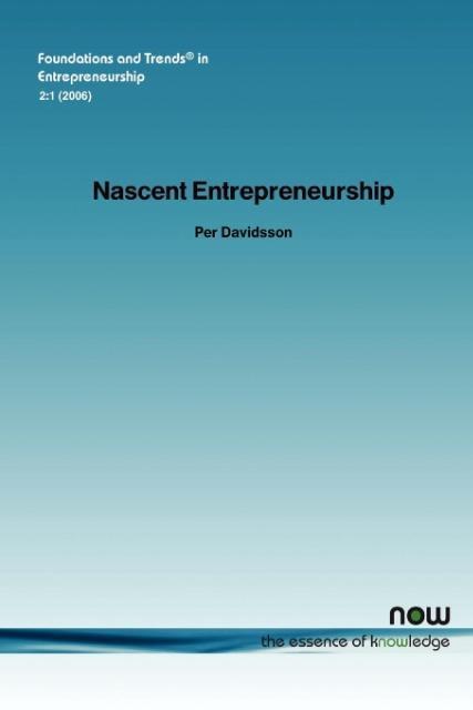 Nascent Entrepreneurship als Taschenbuch