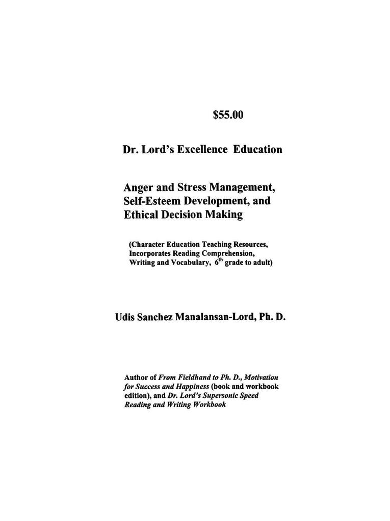 Dr. Lord's Excellence Education als Taschenbuch