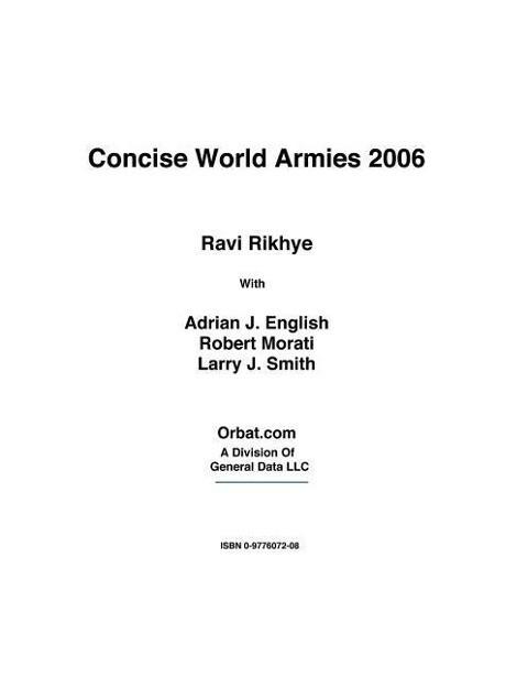 Concise World Armies 2006 als Taschenbuch