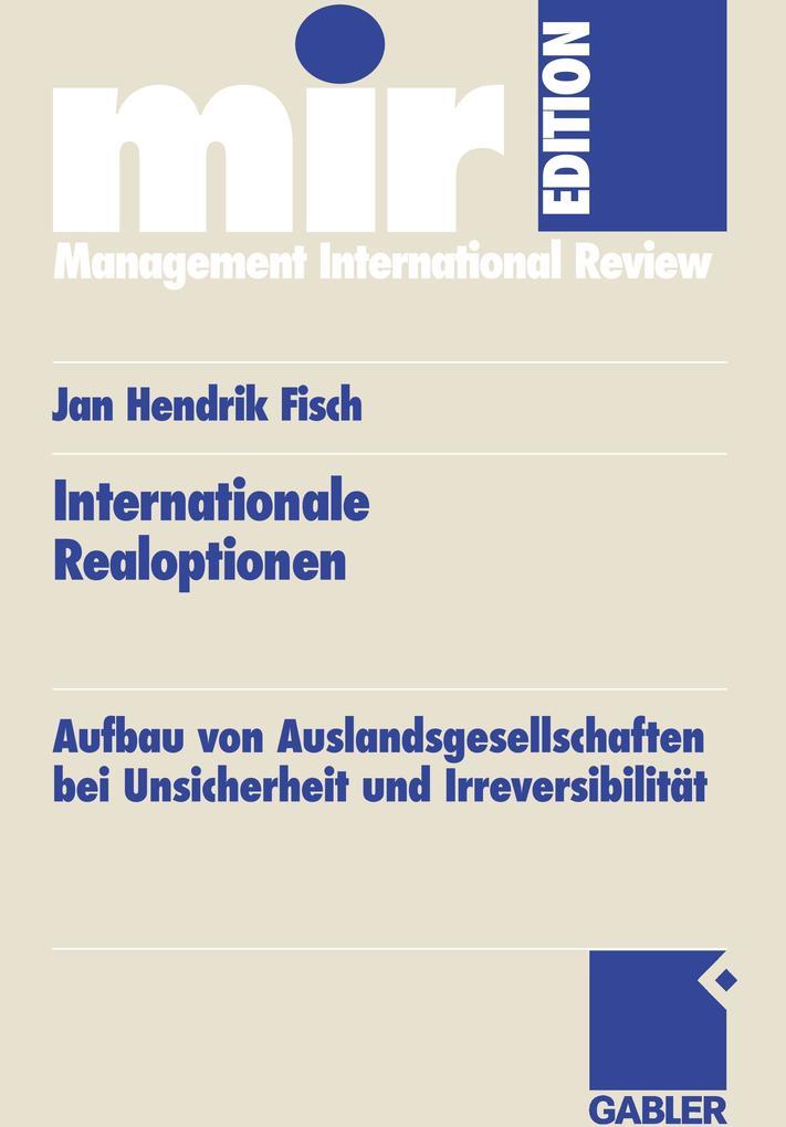 Internationale Realoptionen als Buch