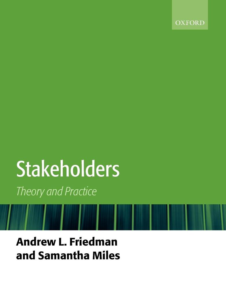 Stakeholders: Theory and Practice als Buch
