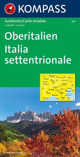 Oberitalien / Italia Settentrionale 1 : 500 000 als Buch