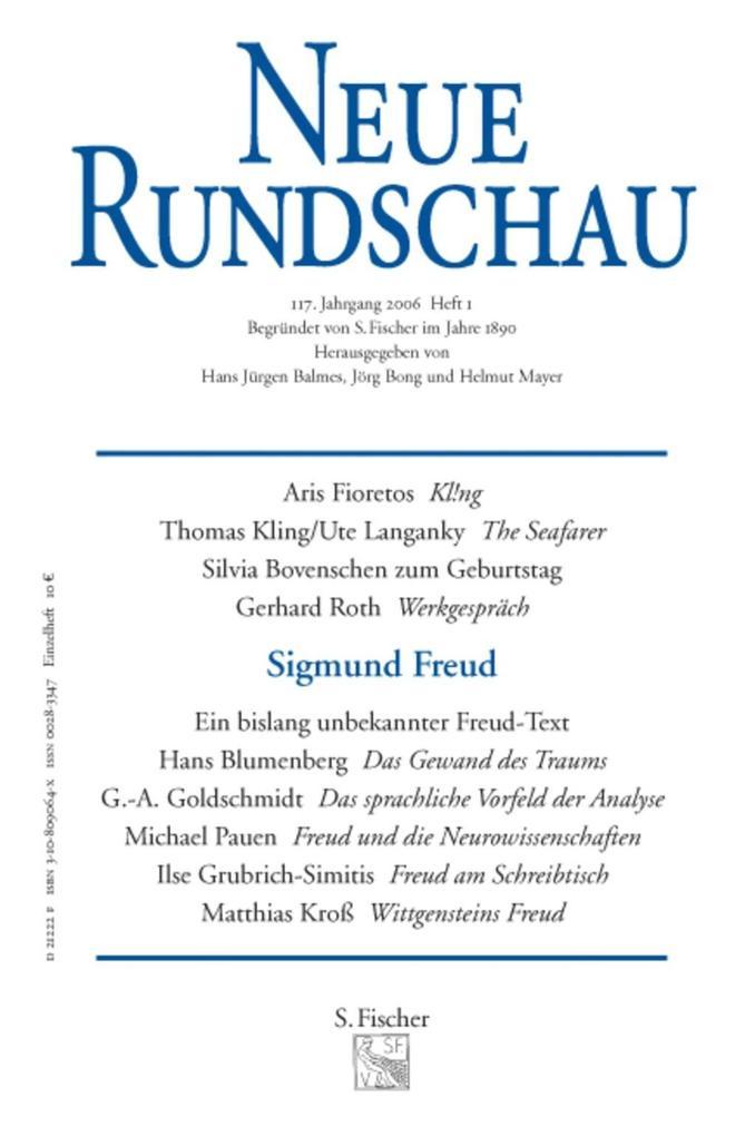 Neue Rundschau 2006/1 als Buch