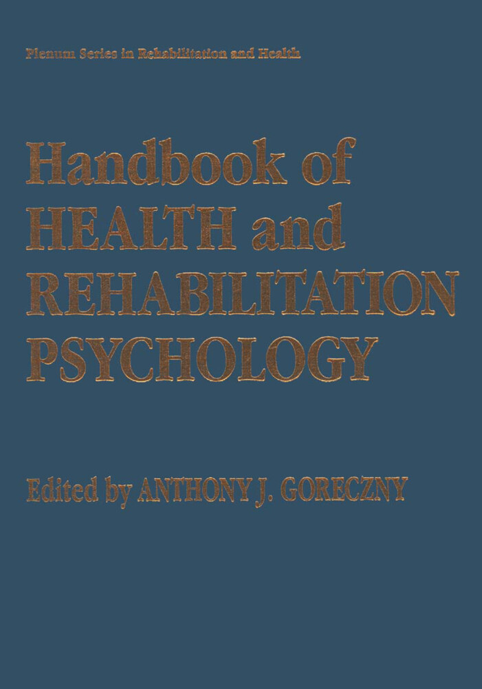 Handbook of Health and Rehabilitation Psychology als Buch