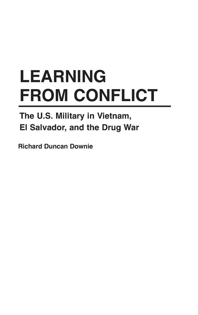 LEARNING FROM CONFLICT als Buch
