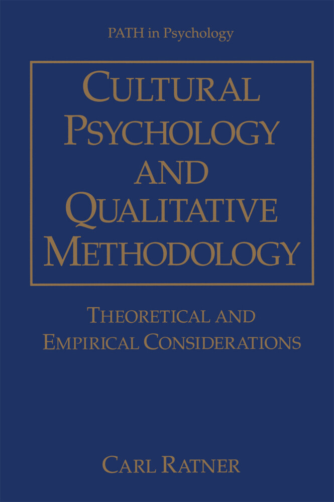 Cultural Psychology and Qualitative Methodology als Buch