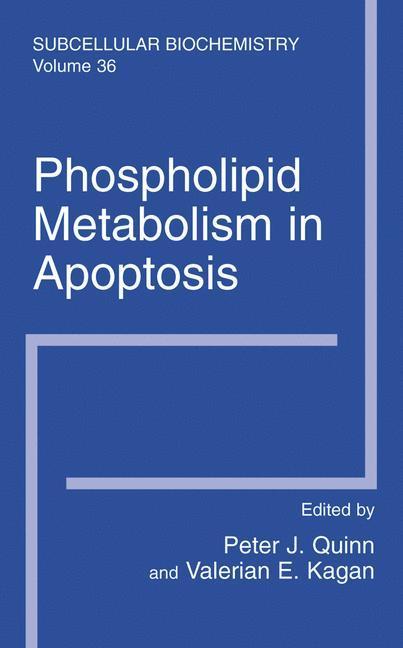 Phospholipid Metabolism in Apoptosis als Buch