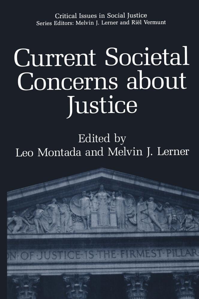 Current Societal Concerns about Justice als Buch
