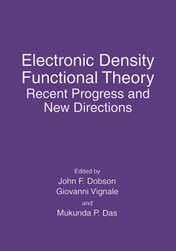 Electronic Density Functional Theory als Buch